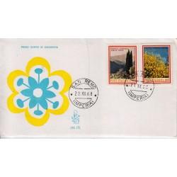 FDC ITALIA 1968 Venetia Unif. 1106/7 Flora 3° S. Annullo San Remo