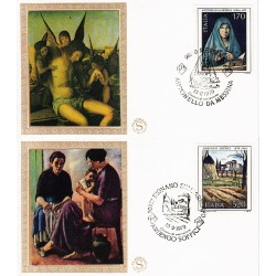 FDC ITALIA 1979 Filagrano Gold Unif. 1448/9 Arte Italiana Annullo Speciale