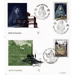 FDC ITALIA 1979 Ala Unif. 1448/9 Arte Italiana Annullo Speciale