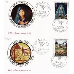 FDC ITALIA 1979 Roma Luxor Unif. 1448/9 Arte Italiana Annullo Firenze