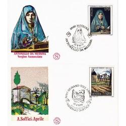 FDC ITALIA 1979 Filagrano Unif. 1448/9 Arte Italiana Annullo Speciale