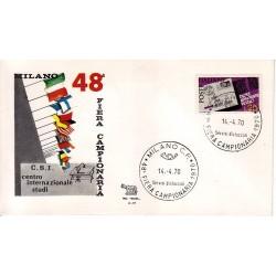 MARCOFILIA ANNULLO SPECIALE A-57 14/04/1970 Milano 48° Fiera Campionaria