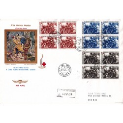 FDC VATICANO The Golden Series 1964 Croce Rossa raccomandata quartina