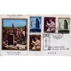 FDC VATICANO The Golden Series 1965 Visita di Paolo VI alla sede ONU raccomandata