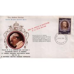 FDC VATICANO The Golden Series 1965 INIZIO DEL PROCESSO DI BEATIFICAZIONE DI S.S. PIO XII (1876-1958)