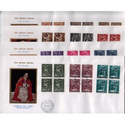 FDC VATICANO The Golden Series 1966 Il Lavoro dell'uomo quartine in bustoni