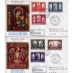FDC VATICANO The Golden Series 1966 Millenario Polonia raccomandata 1