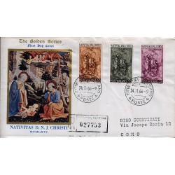 FDC VATICANO The Golden Series 1966 Natale raccomandata 2