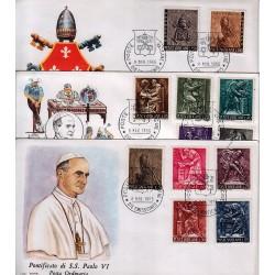 FDC VATICANO Roma 1966 Il Lavoro dell'uomo 3 buste