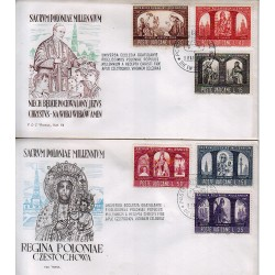 FDC VATICANO Roma 1966 Millenario Cattolico della Polonia