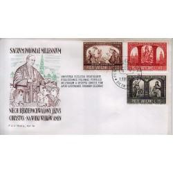 FDC VATICANO Roma 1966 Millenario Cattolico della Polonia 1 busta