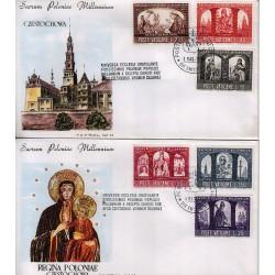 FDC VATICANO Roma 1966 Millenario Cattolico della Polonia b