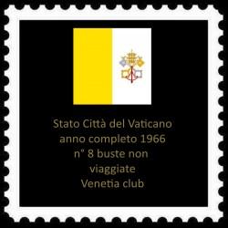 FDC VATICANO 1966 Venetia Anno Completo 8 buste non viaggiate