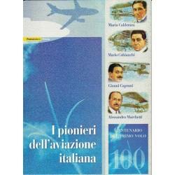 IT Repubblica 2003 Folder 12/09/2003 100° Primo Volo - Pionieri dell'Aviazione Italiana - nuovo completo, val. facciale € 30.00