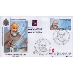 FDC VATICANO 1999 Grolla Unif. 1153 Padre Pio Di Pietralcina 1 buste