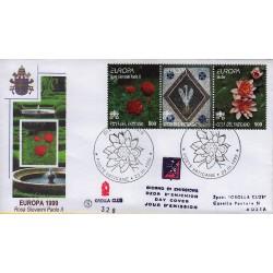 FDC VATICANO 1999 Grolla Unif. 1143/4 Europa 1 buste