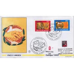 FDC VATICANO 1995 Grolla Unif. 1010/11 Europa Pace e Libertà