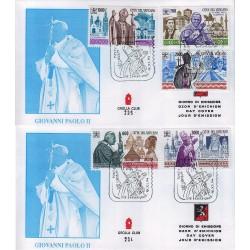 FDC VATICANO 1994 Grolla Unif. 1005/10 i Viaggi di Giovanni Paolo II