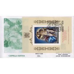 FDC VATICANO 1994 Grolla Unif. 989 BF14 Restauro Cappella Sistina