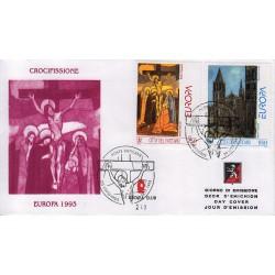 FDC VATICANO 1993 Grolla Unif. 971/3 Europa Arte contemporanea