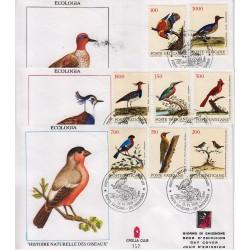 FDC VATICANO 1989 Grolla Unif. 862/9 Serie Ecologia Uccelli