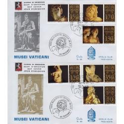 FDC VATICANO 1977 Grolla Unif. 620/5 Musei Vaticani Sculture