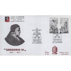 FDC VATICANO 1977 Grolla Unif. 616/7 Papa Gregorio XI