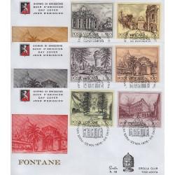 FDC VATICANO 1977 Grolla Unif. 604/09 Anno Europeo Fontane