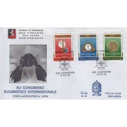 FDC VATICANO 1976 Grolla Unif. 595/7 41° Congresso Eucaristico Internazionale