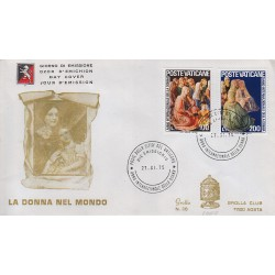 FDC VATICANO 1975 Grolla Unif. 591/2 Anno Internazionale della Donna