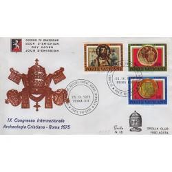 FDC VATICANO 1975 Grolla Unif. 582/84 Archeologia Cristiana