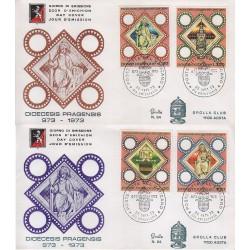 FDC VATICANO 1973 Grolla Unif. 544/47 Millenario Diocesi di Praga