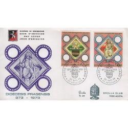 FDC VATICANO 1973 Grolla Unif. 545-547 Millenario Diocesi di Praga