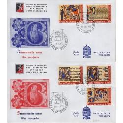 FDC VATICANO 1972 Grolla Unif. 524/28 Anno Internazionale del Libro