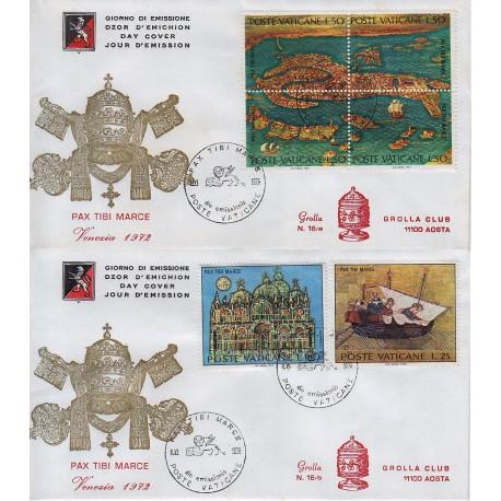 FDC VATICANO 1972 Grolla Unif. 518/23 Salviamo Venezia