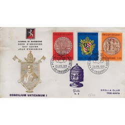FDC VATICANO 1970 Grolla n°6Unif. 484/86 Concilio Vaticano I