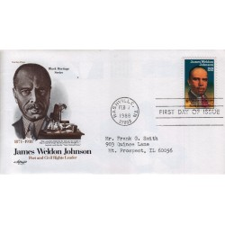 FDC US Artmaster Sott. 2371 02/02/1988 22c Black Heritage Series James Weldon Johnson