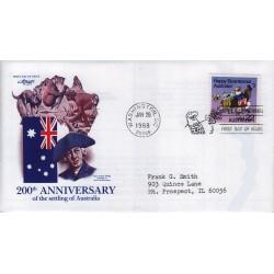 FDC US Artmaster Sott. 2370 26/01/1988 - 1v - 22c Australia Bicentennial