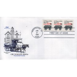 FDC US ArtMaster Sott. 2130a 27/06/1988 10.1c Transportation Coils - Oil Wagon