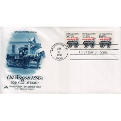 FDC US ArtCraft Sott. 2130a 27/06/1988 10.1c Transportation Coils - Oil Wagon