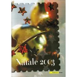IT Repubblica 2003 Folder 24/10/2003 Il Santo Natale 2003 - val. facciale € 11.00