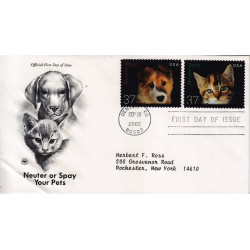 FDC US 3670/1 20/09/2002 Neuter or Spay Your Pets