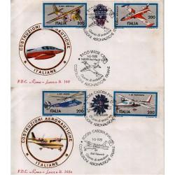FDC Italia 1981 Roma Luxor 168/a Unif 1555/58 Costruzioni Aeronautiche A/S Varese