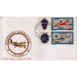 FDC Italia 1981 Roma Luxor 168a Unif 1556/57 Costruzioni Aeronautiche A/F Udine