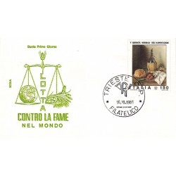 FDC Italia 1981 Rodia Unif 1581 1° Giornata Alimentazione A/F Trieste