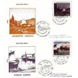 FDC Italia 1981 Rodia Unif 1574/5 Arte Italiana 8° S A/S Vari