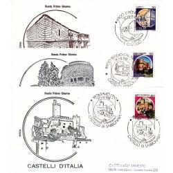 FDC Italia 1981 Rodia Unif 15769/71 Castelli d'Italia A/S Varie
