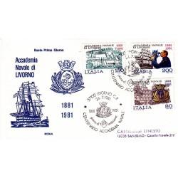 FDC Italia 1981 Rodia Unif 1566/68 Accademia navale Livorno A/S