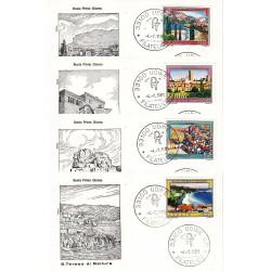 FDC Italia 1981 Rodia Unif 1562/65 Propaganda Turistica A/F