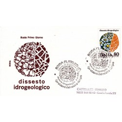 FDC Italia 1981 Rodia Unif 1559 Dissesto Idrogeologico A/S viaggiata